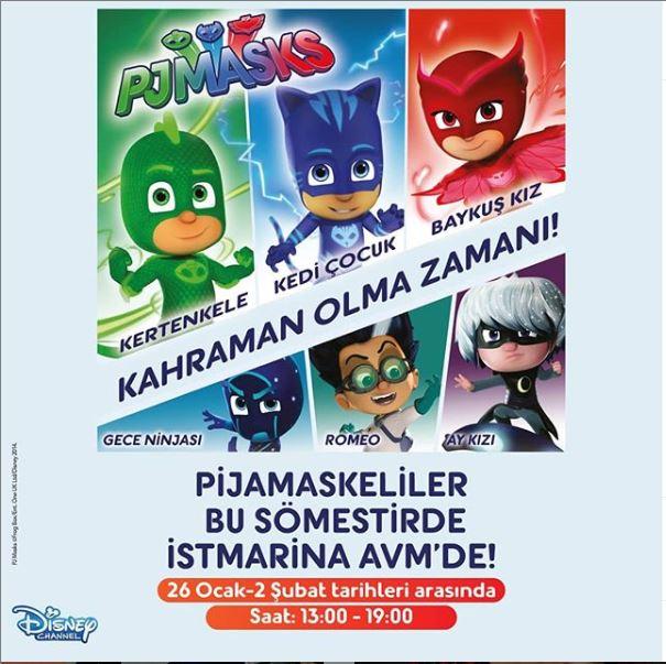 İstMarina AVM Pijamaskeliler Etkinliği!