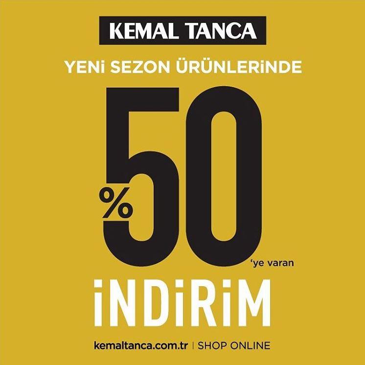 Kemal Tanca Sezon Alışverişlerinde %50 indirim Fırsatı!