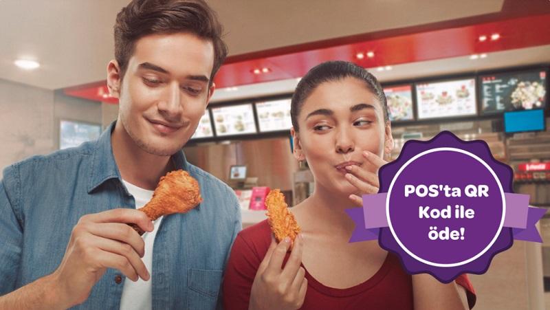 KFC'de POS'ta QR Kod ile 10 TL Worldpuan Fırsatı!