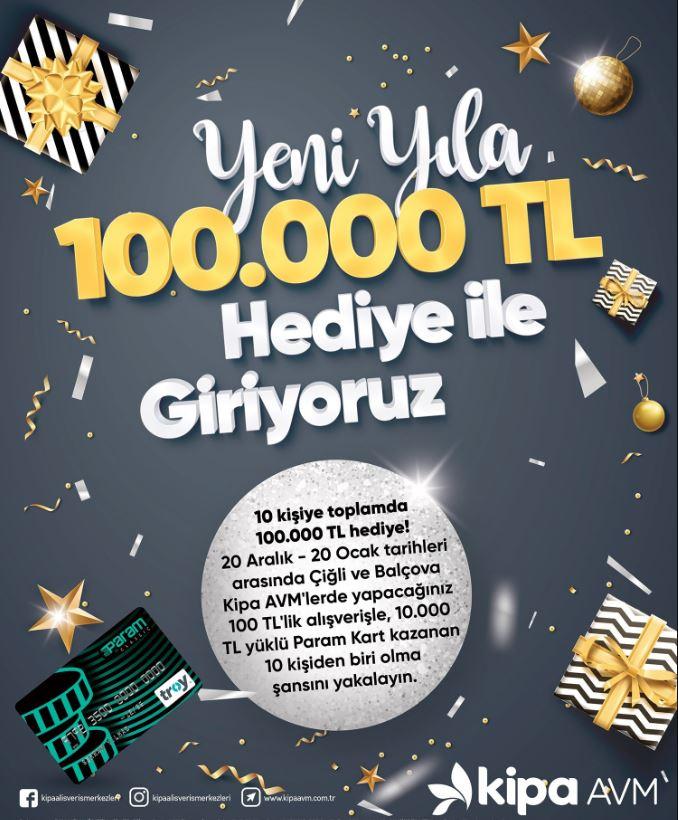 Kipa AVM Yeni Yıl 100.000 TL Çekiliş Kampanyası!