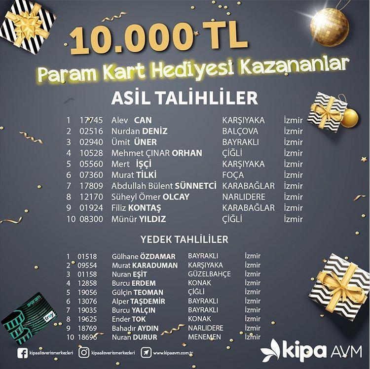 Çiğli ve Balçova 10.000 TL yüklü Param Kart Çekiliş Sonucu Açıklandı!