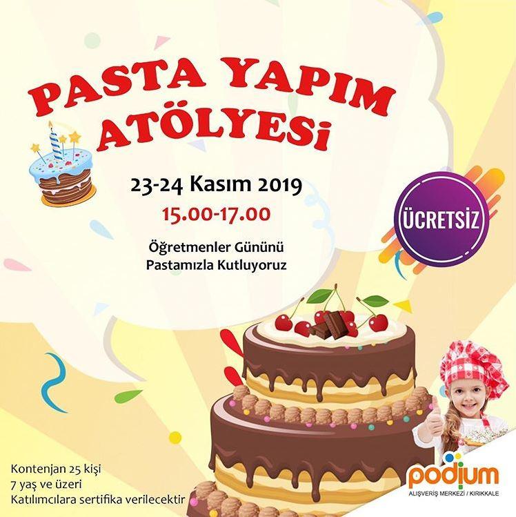 Podium Avm Pasta Yapım Atölyesi!