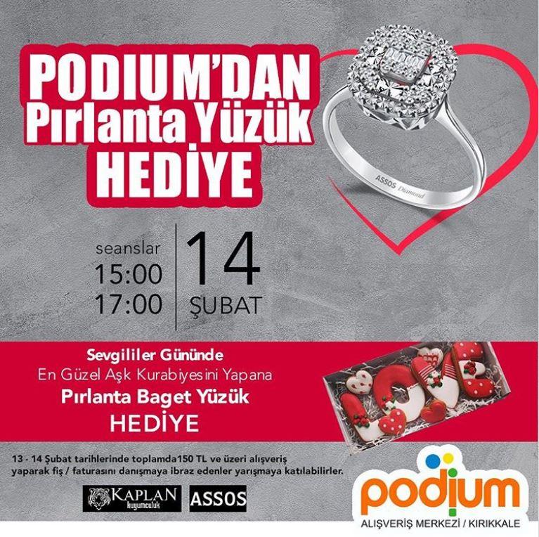 Kırıkkale Podium'dan Pırlanta Yüzük Hediye!