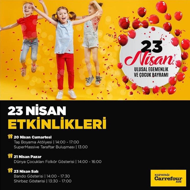 23 Nisan Cocuk Bayrami Kozyatagi Carrefour Da Kutlanir