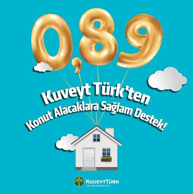 Kuveyt Türk'ten Konut Alacaklara 0.89 Oranlı Kredi!