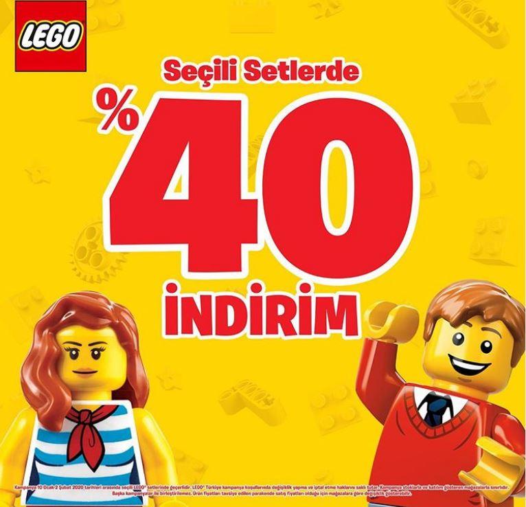 Lego Store'larada %40 İndirim Fırsatı!