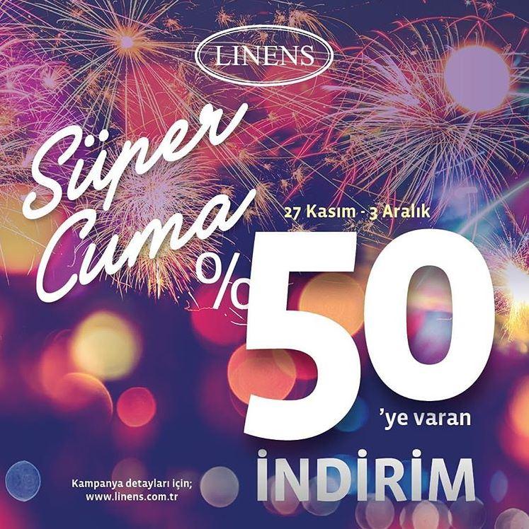 Linens Süper Cuma İndirim Kampanyası!