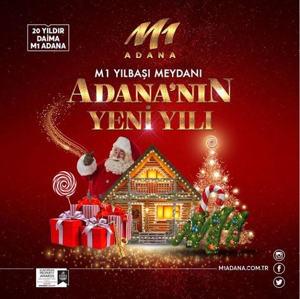 Adana'nın yeni yılı M1 Yılbaşı Meydanı'nda yaşanır!