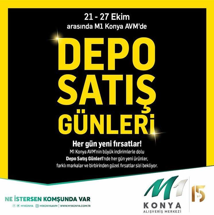 M1 Konya AVM'de Depo Satış Günleri!