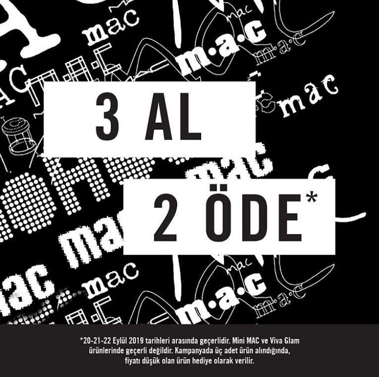 M.A.C Cosmetics 3 Al 2 Öde Fırsatı!