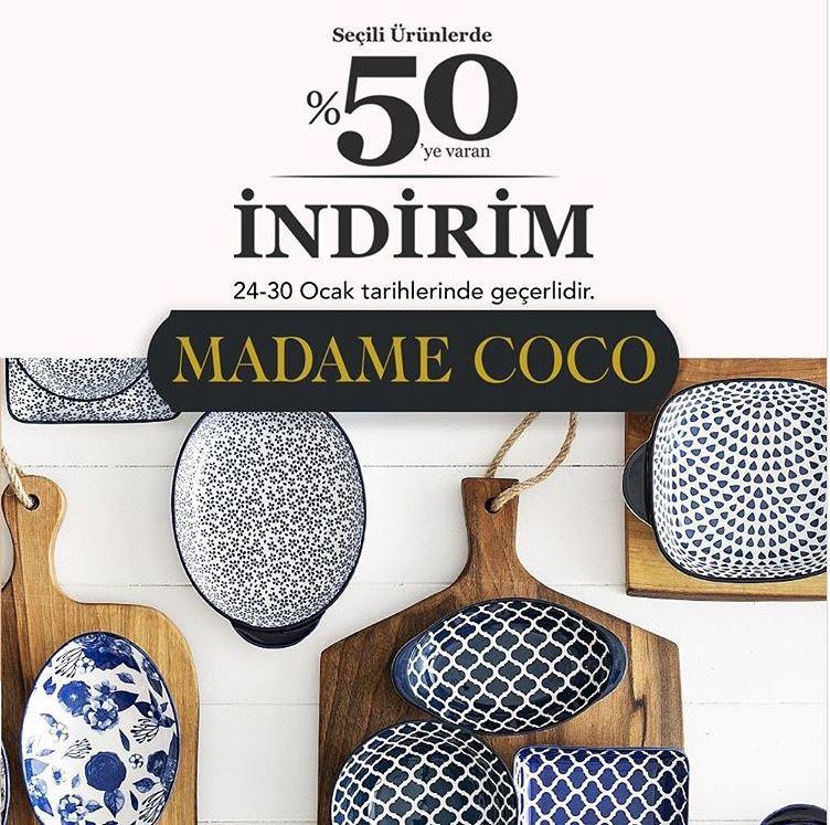 Madame Coco'da %50'ye varan indirim fırsatı!