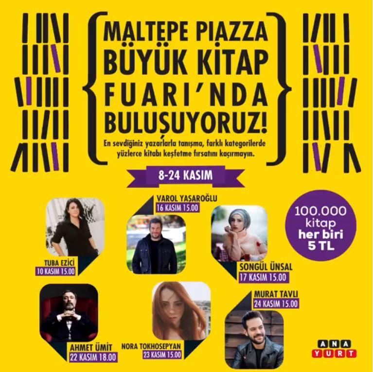 Maltepe Piazza Büyük Kitap Fuarı başlıyor!