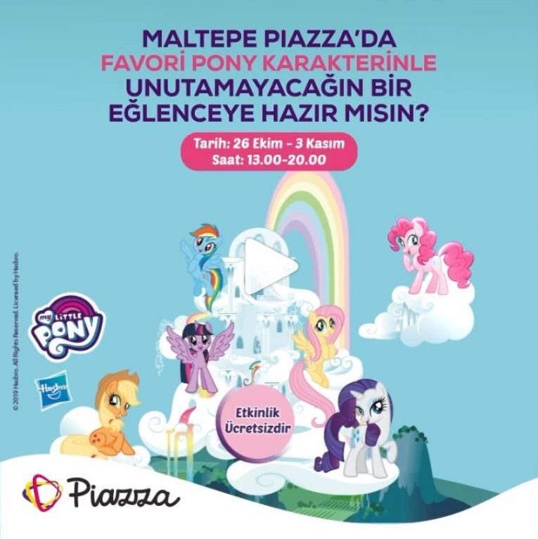Maltepe Piazza'da My Little Pony Etkinliği!