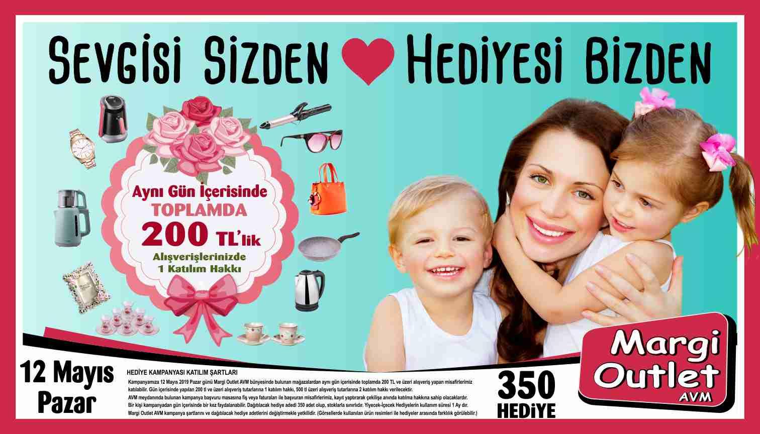 12 Mayıs Anneler Günü'nde Sevgisi Sizden Hediyesi Margi Outlet'ten!