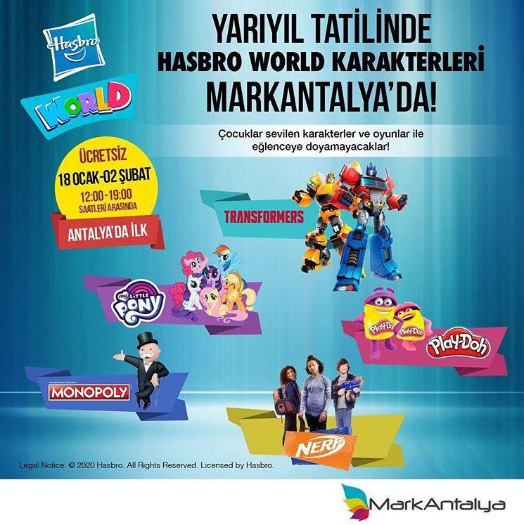 Yarıyıl tatilinde Hasbro World Karakterleri Markantalya'da