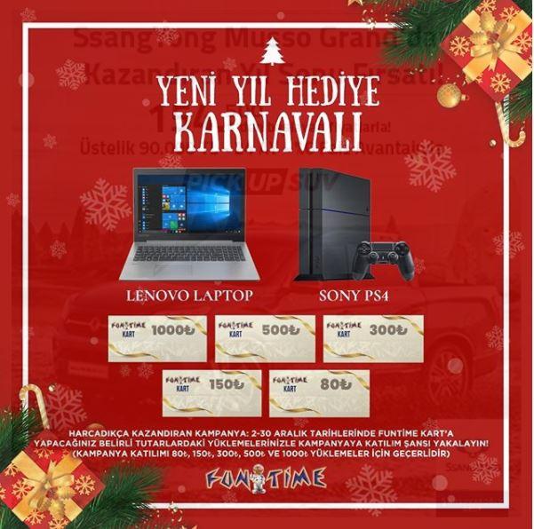 Yeni yılda hediye karnavalı MaviBahçe Fun Time'da!