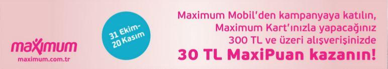 Metro Market'te 30 TL MaxiPuan!