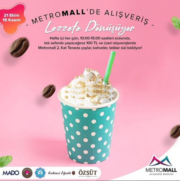 Metromall'de alışverişler lezzete dönüşüyor!