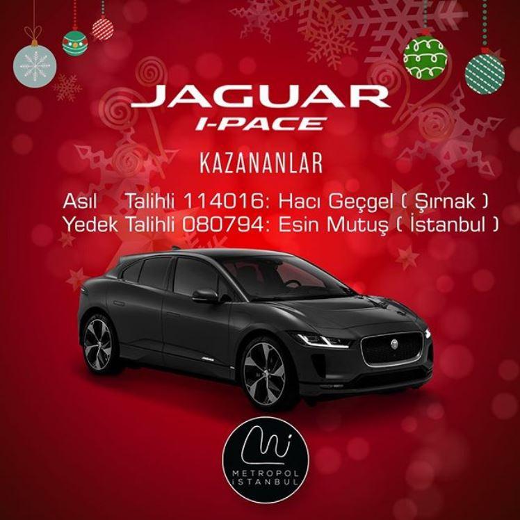 Metropol İstanbul Jaguar i-Pace Çekiliş Sonucu Açıklandı!