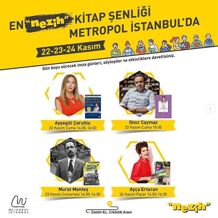 Metropol İstanbul Nezih Kitap Şenliği!