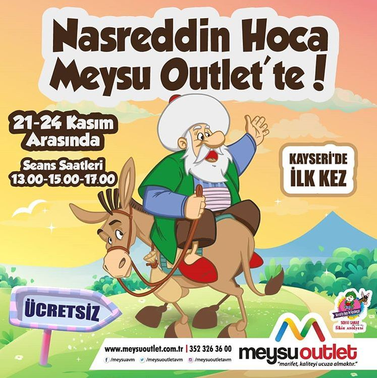Nasreddin Hoca Meysu Outlet'te !