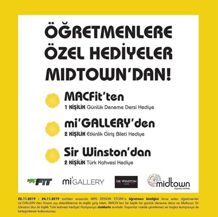 Midtown AVM Öğretmenler Günü Kampanyaları!