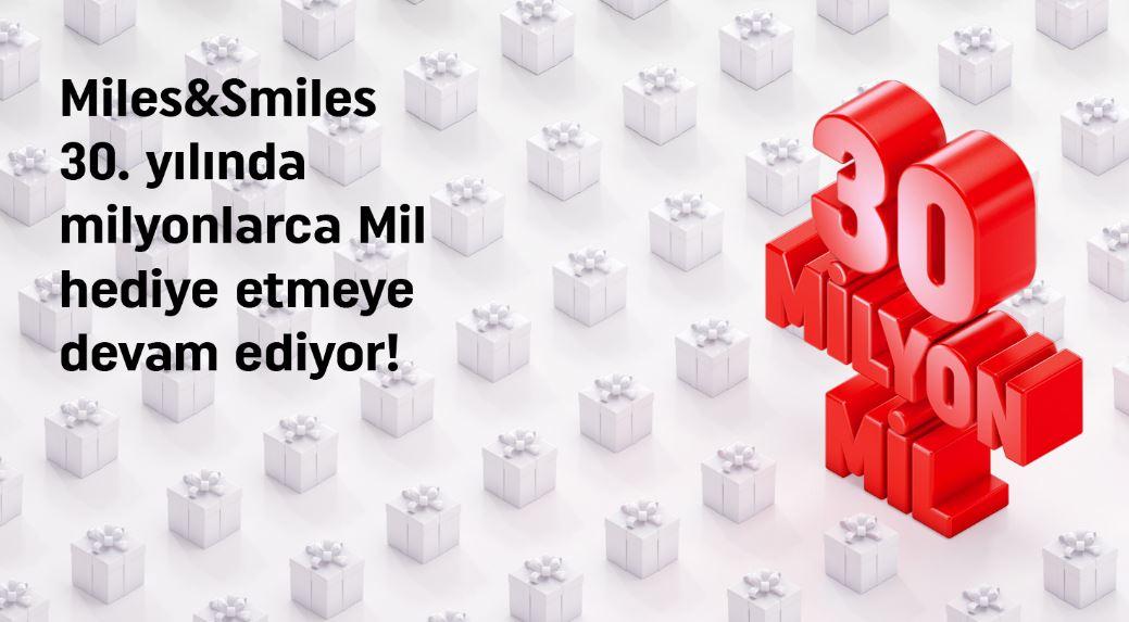 Miles&Smiles 30. Yıla Özel 30 Milyon Mil Çekilişi!