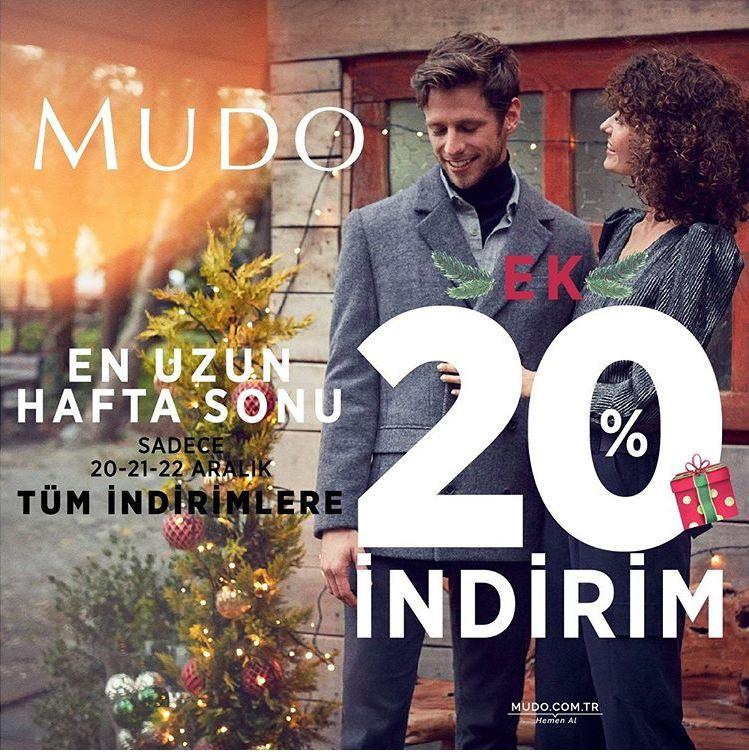 Mudo'da Tüm İndirimlere Ek %20 İndirim Fırsatı!