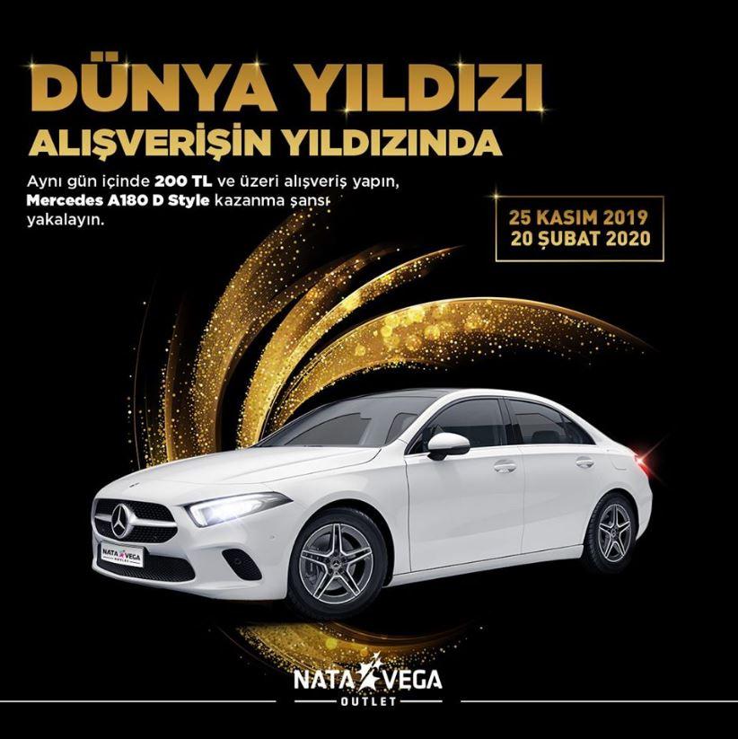 Nata Vega Outlet Mercedes A180 Çekiliş Kampanyası!