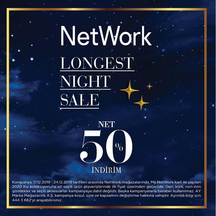 Network Longest Night Sale Net %50 İndirim!