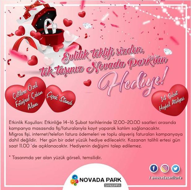 Novada Park'ta Aşk Dolu Sevgililer Günü!