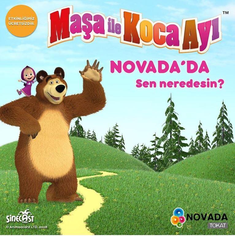 Novada Tokat Maşa ile Koca Ayı Müzikal Etkinliği!