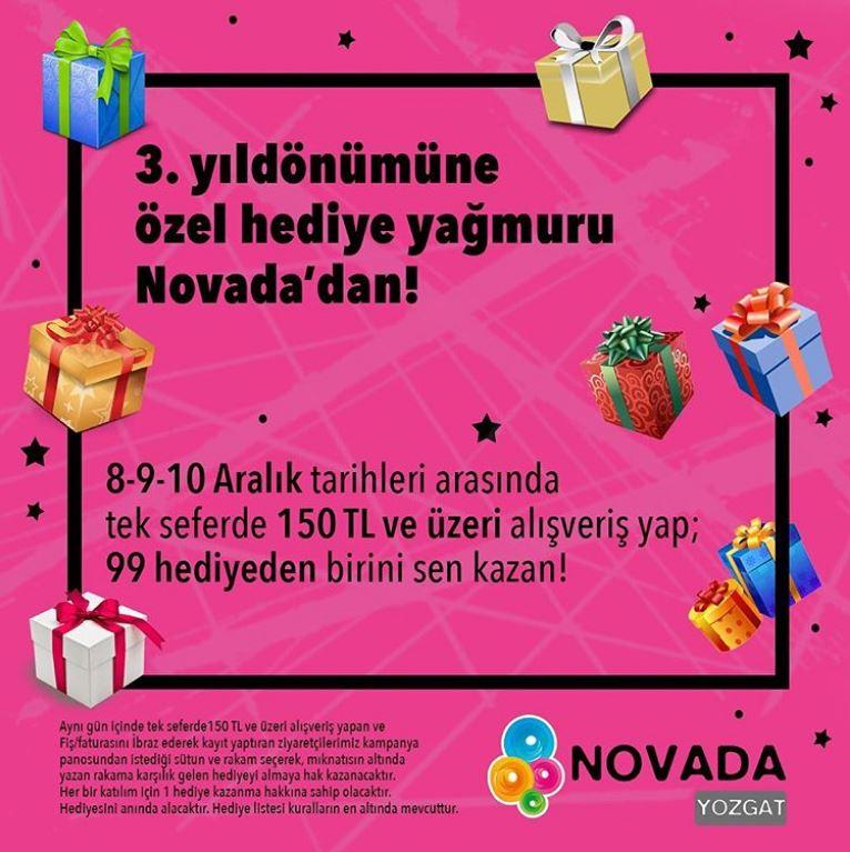 Novada Yozgat 3. Yıldönümüne Özel Hediye Yağmuru!