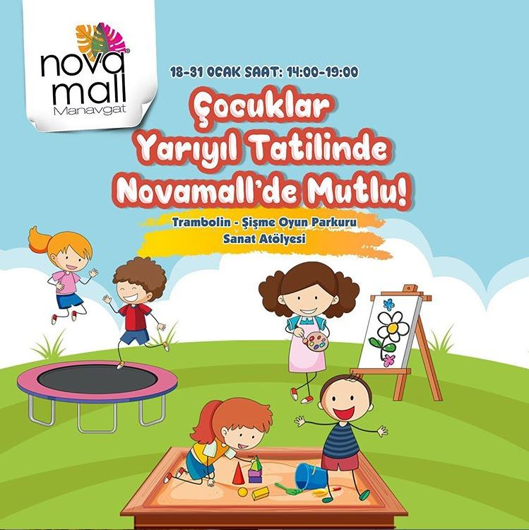 Novamall'de yarı yıl tatili programımız başladı!