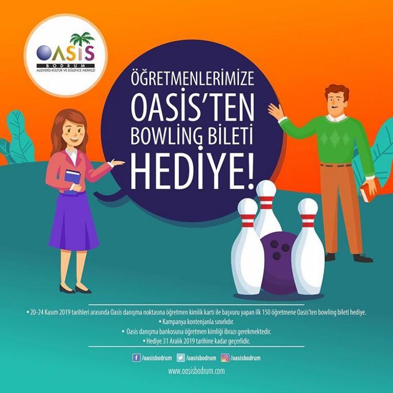 Değerli öğretmenlerimize Oasis'ten bowling bileti hediye!