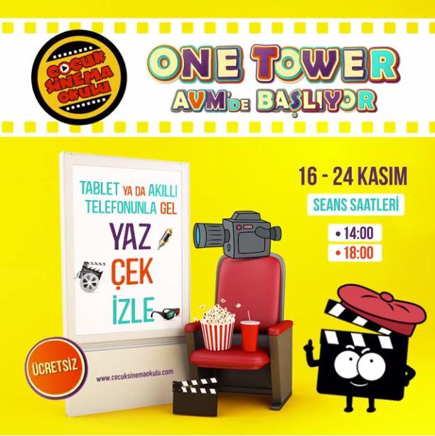 One Tower AVM Çocuk Sinema Okulu!