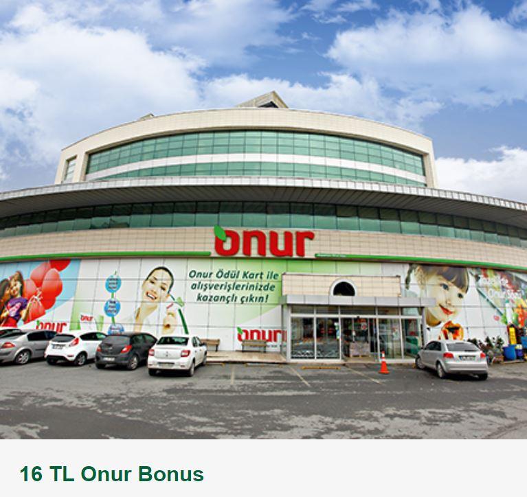 16 TL Onur Bonus!
