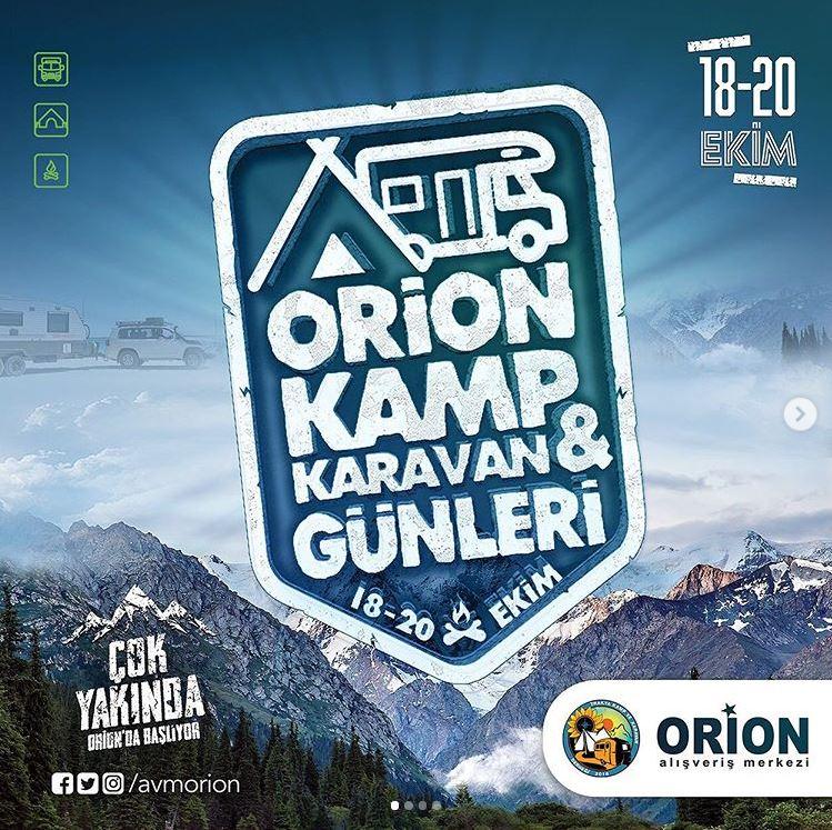 Trakya'nın ilk Kamp ve Karavan Günleri etkinliği Orion'da!