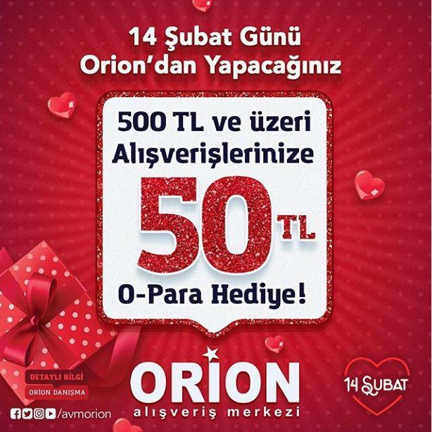 Sevgililer Günü'ne özel Orion O-Para Kart Kampanyası!