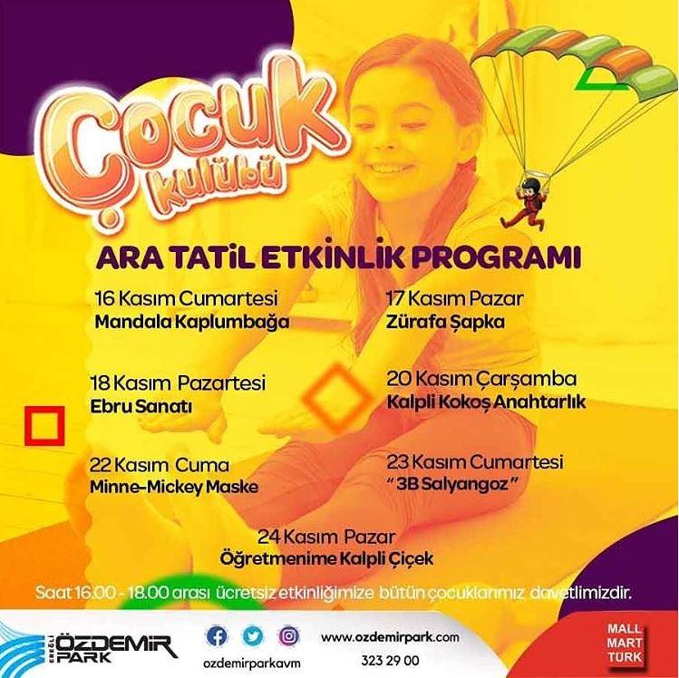 Özdemir Park AVM Ara Tatil Etkinlikleri!