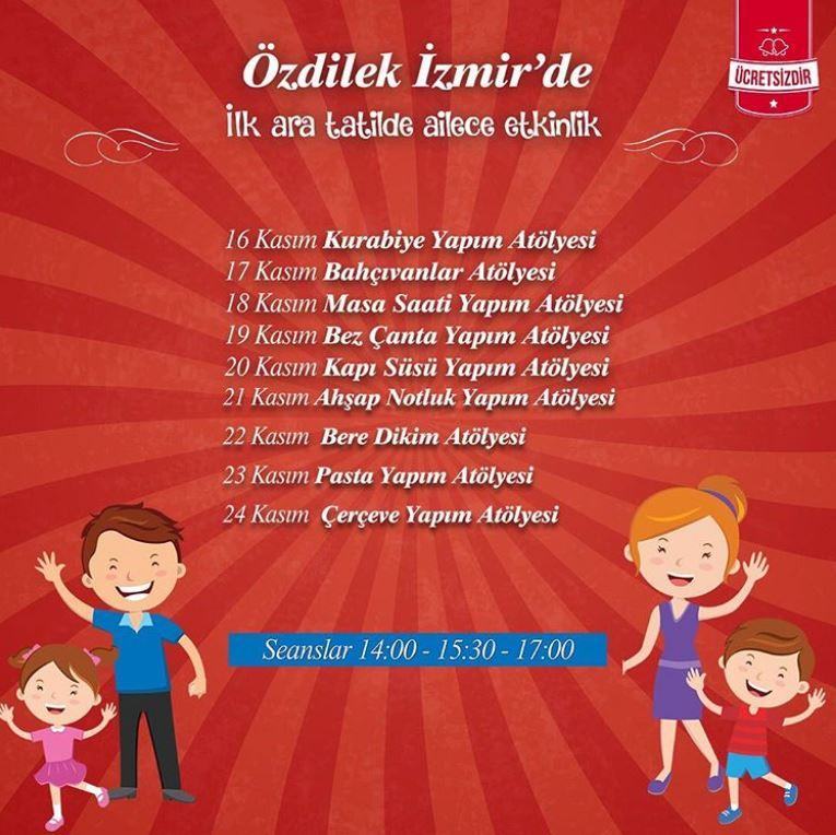 İlk ara tatil boyunca eğlencenin adresi Özdilek İzmir!