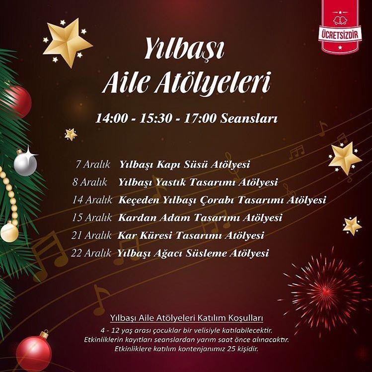 Yılbaşı Aile Atölyeleri Özdilek İzmir'de!