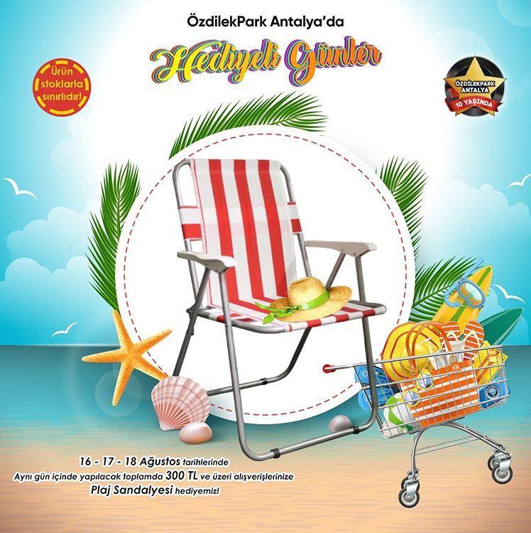ÖzdilekPark Antalya'dan Plaj Sandalyesi Hediye!