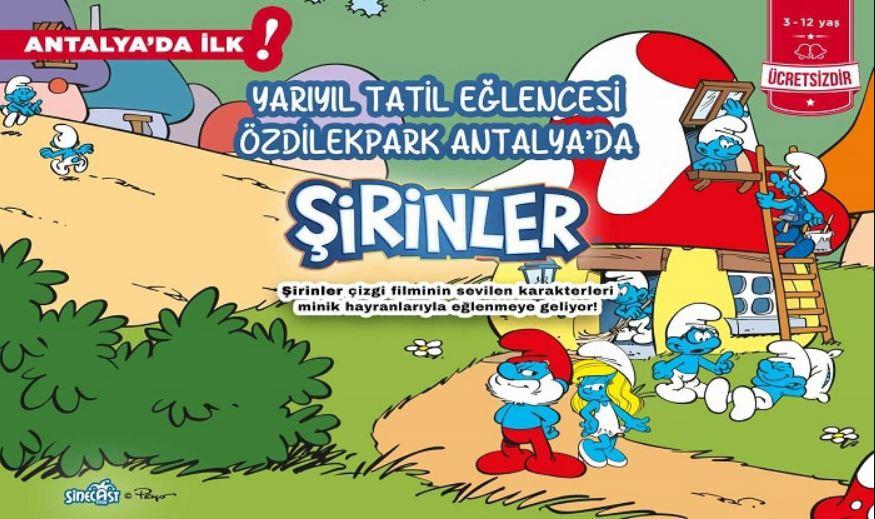 Şirinler Antalya' da ilk defa ÖzdilekPark Antalya' da