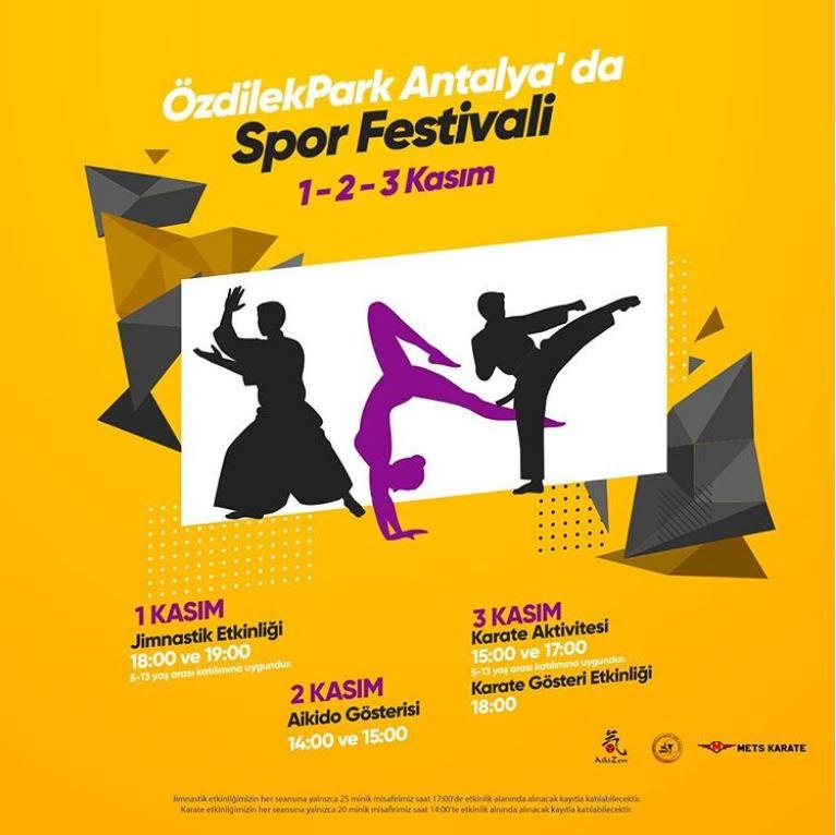 ÖzdilekPark Antalya'da Spor Festivali başlıyor