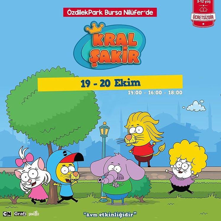 Kral Şakir ve arkadaşları ÖzdilekPark Bursa Nilüfer'de!