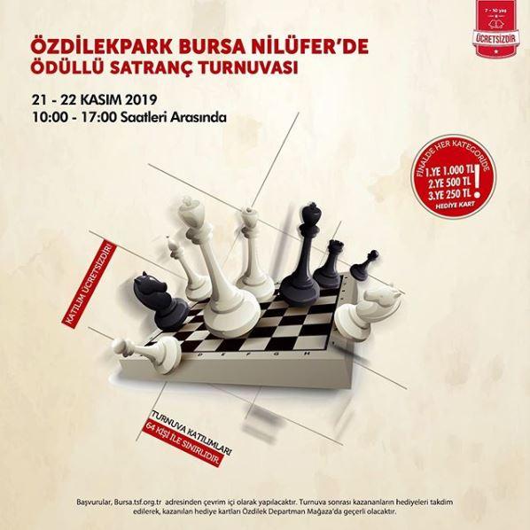 ÖzdilekPark Bursa Ödüllü Satranç Turnuvası!