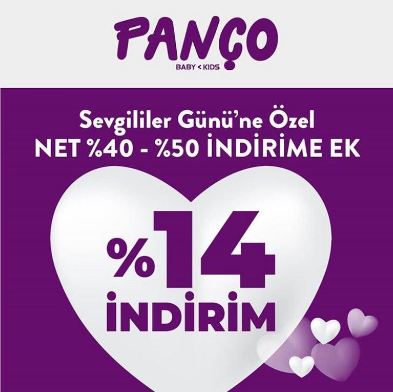 Sevgililer Günü' ne özel ek %14 indirim Panço' da!