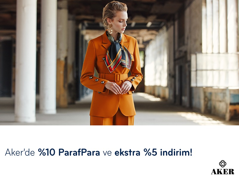 Paraf ile Aker'de %10 ParafPara ve ekstra %5 indirim!