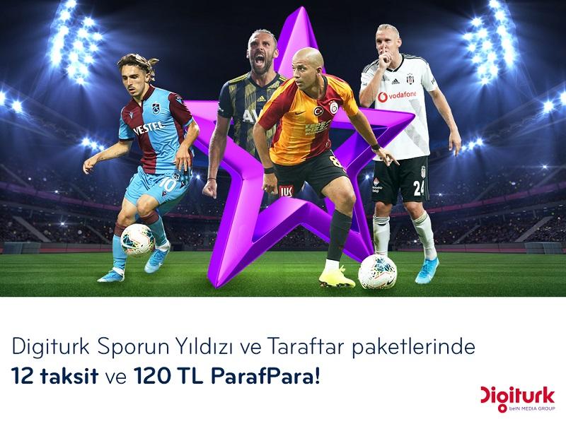 Paraf ile Digiturk Paketleri 12 Taksit ve 120 TL ParafPara Hediyeli!